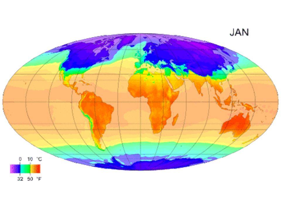 Elementos climáticos São grandezas (variáveis) que caracterizam o estado da atmosfera, ou seja: - radiação solar, - temperatura do ar, - umidade do ar, - pressão atmosférica, - velocidade e direção do vento, - precipitação.
