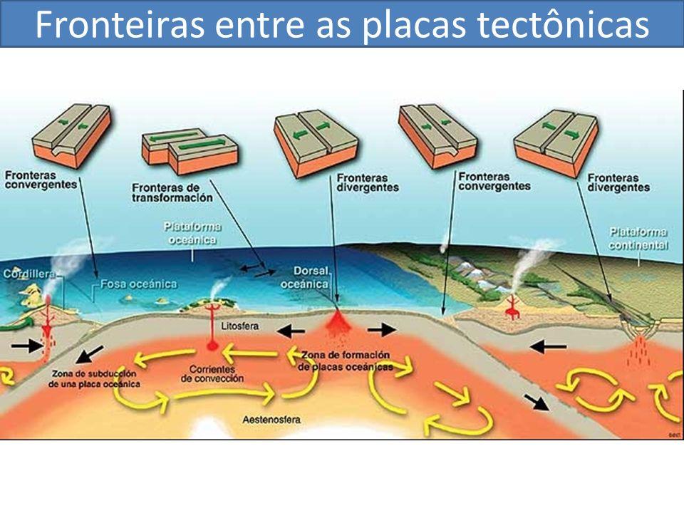 Fronteiras entre as placas tectônicas
