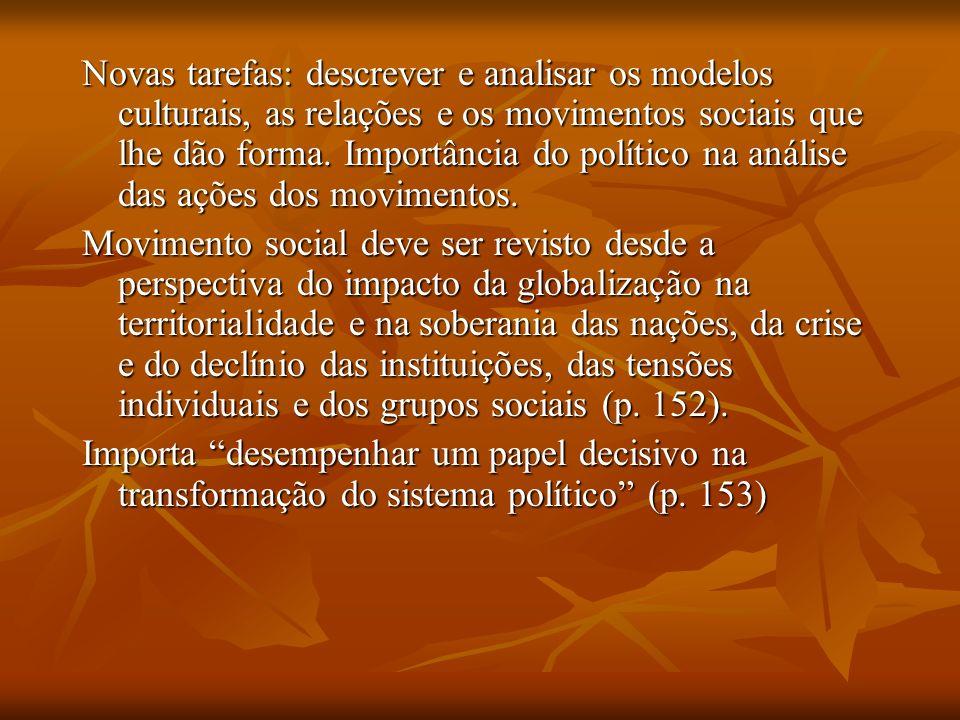 Melucci Paradigma da identidade coletiva – estabelece conexão entre movimentos sociais e necessidades individuais na sociedade contemporânea.