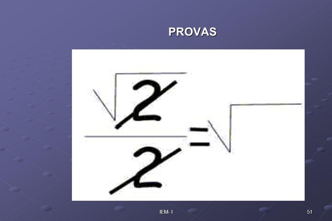 51IEM- I PROVAS