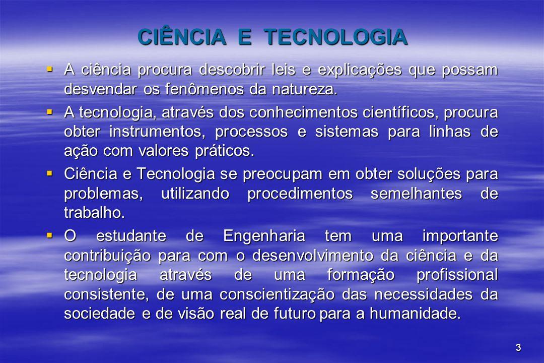 3 CIÊNCIA E TECNOLOGIA A ciência procura descobrir leis e explicações que possam desvendar os fenômenos da natureza. A ciência procura descobrir leis