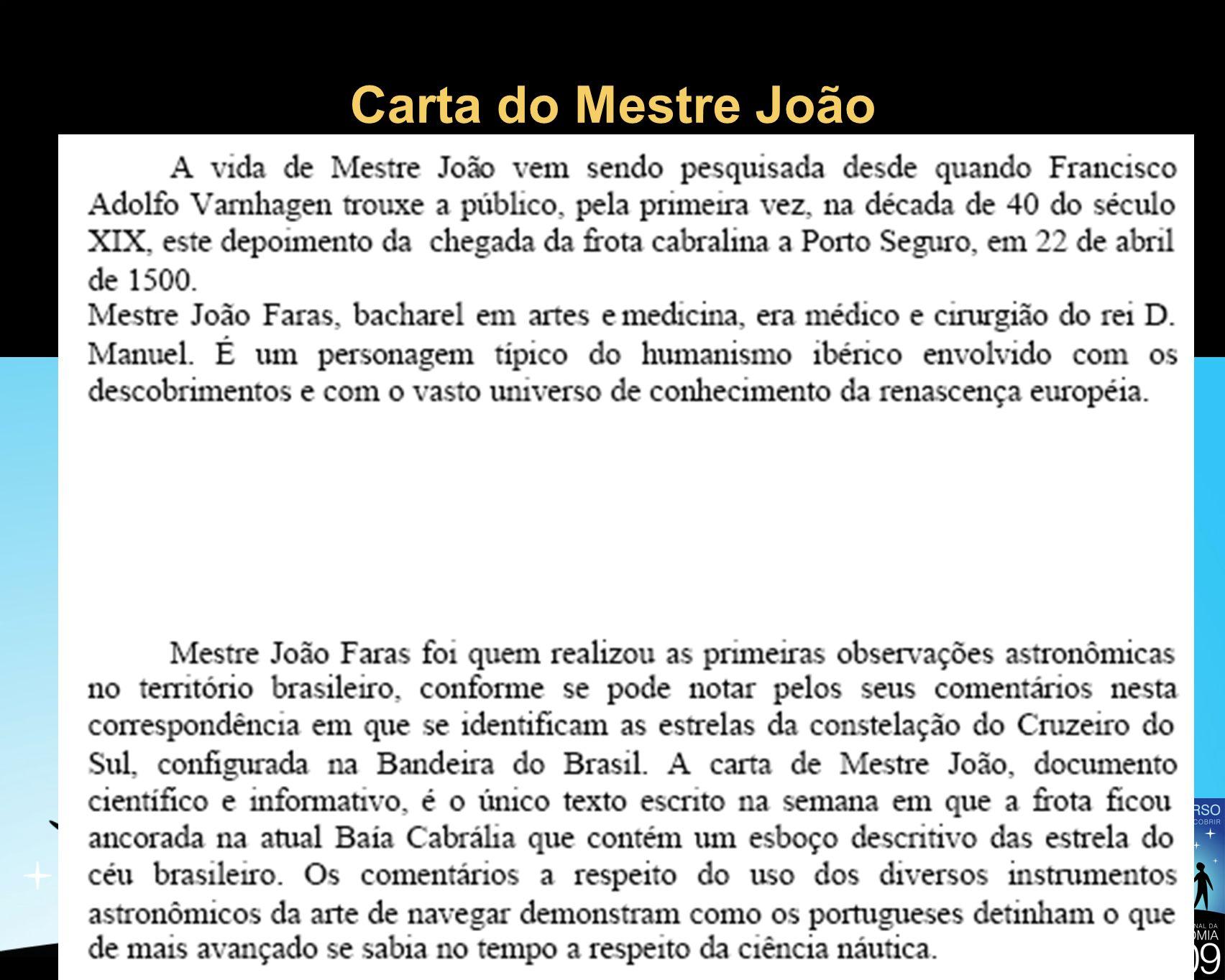 Carta do Mestre João