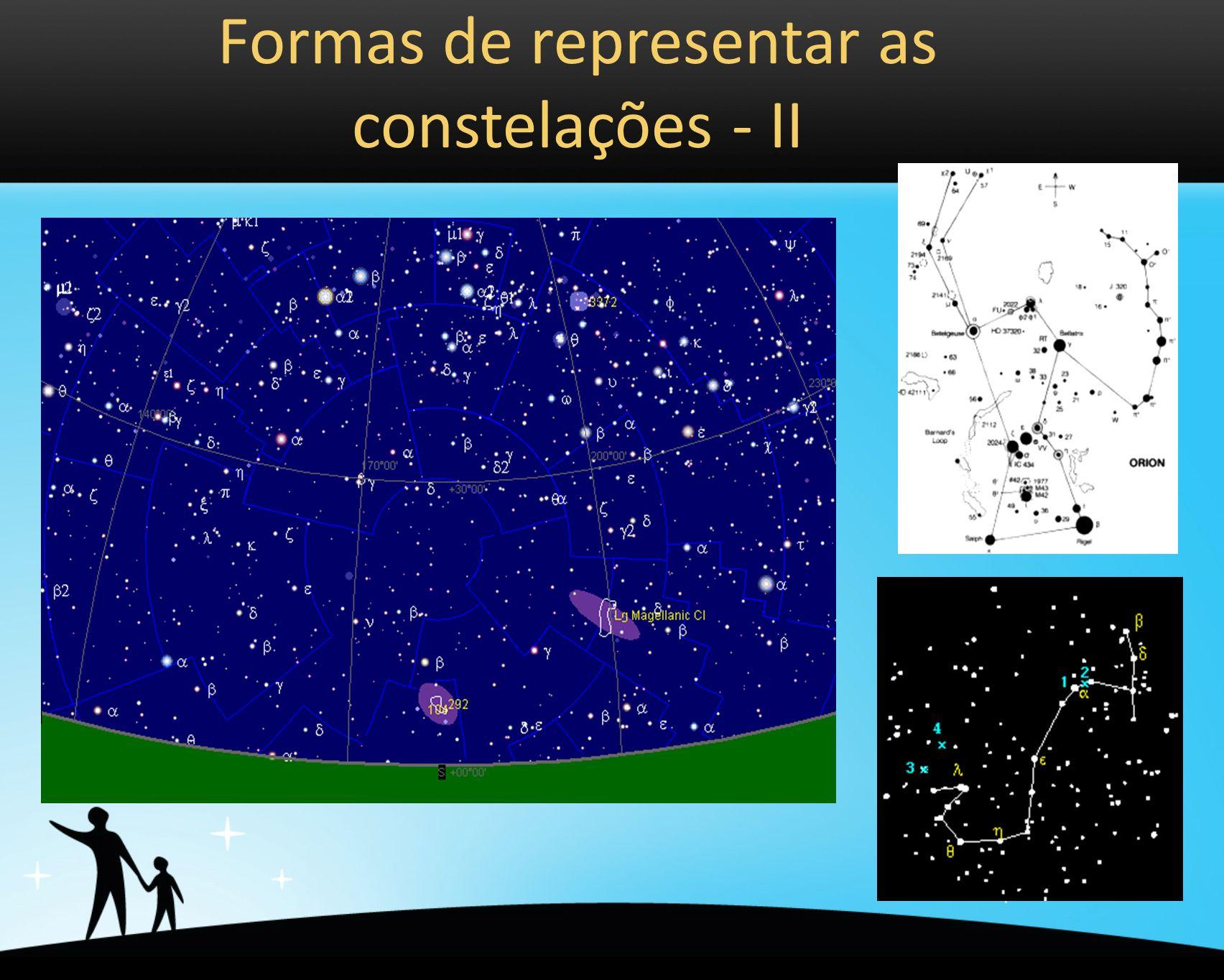 Formas de representar as constelações - II