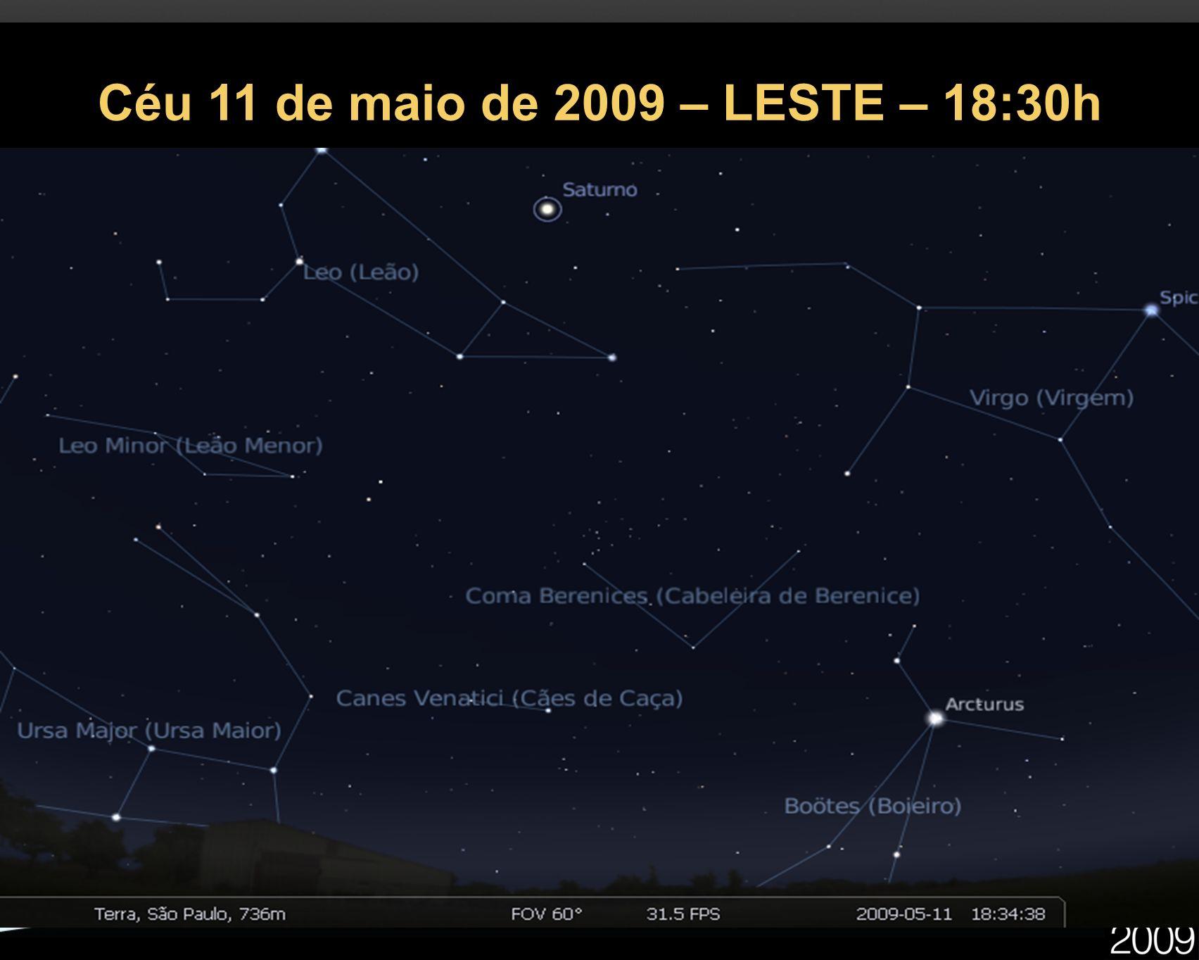 Céu 11 de maio de 2009 – LESTE – 18:30h