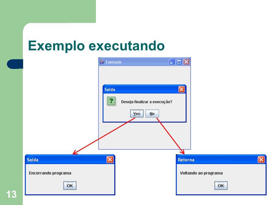 13 Exemplo executando