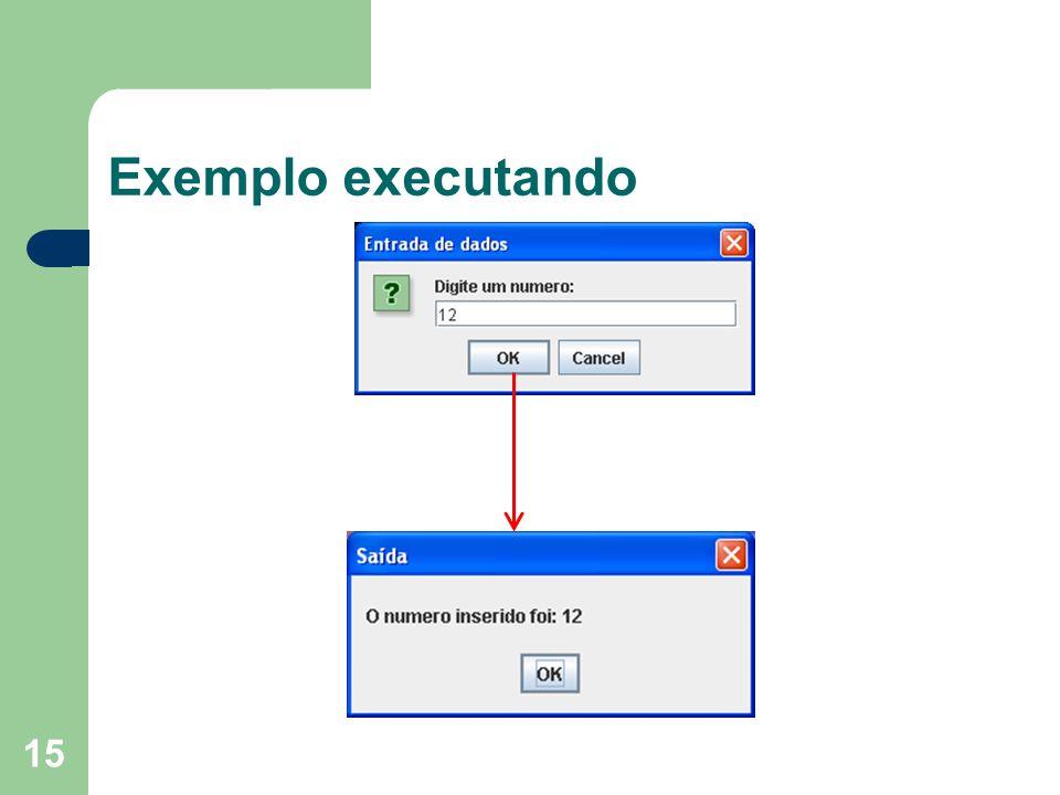 15 Exemplo executando