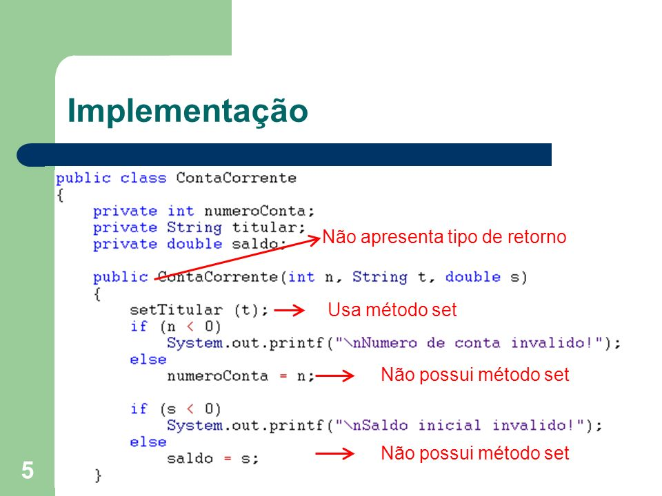 26 Construtores sobrecarregados - Classe Data // construtor existente public Data (int d, int m, int a) { setData(d, m, a); } // construtor com mês e ano public Data (int m, int a) { setData(1, m, a); } // construtor com apenas ano public Data (int a) { setData(1, 1, a); }