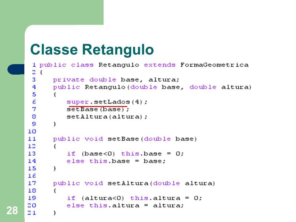 28 Classe Retangulo