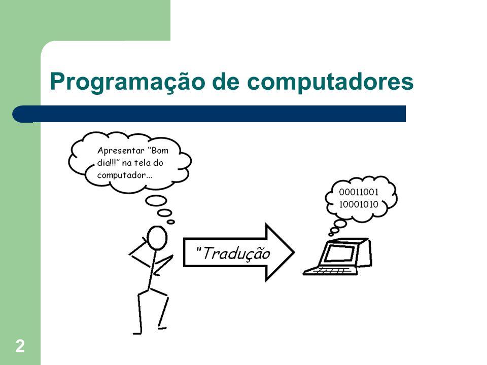 3 Instruções para computadores realizar tarefas.