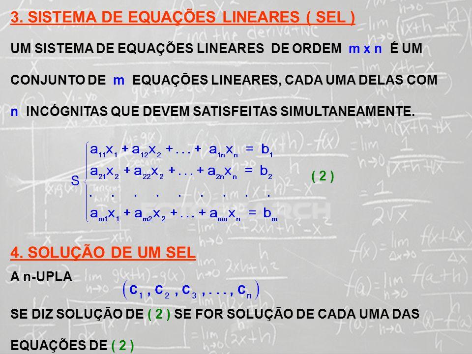 SISTEMAS LINEARES ( 1ª AULA) 5.