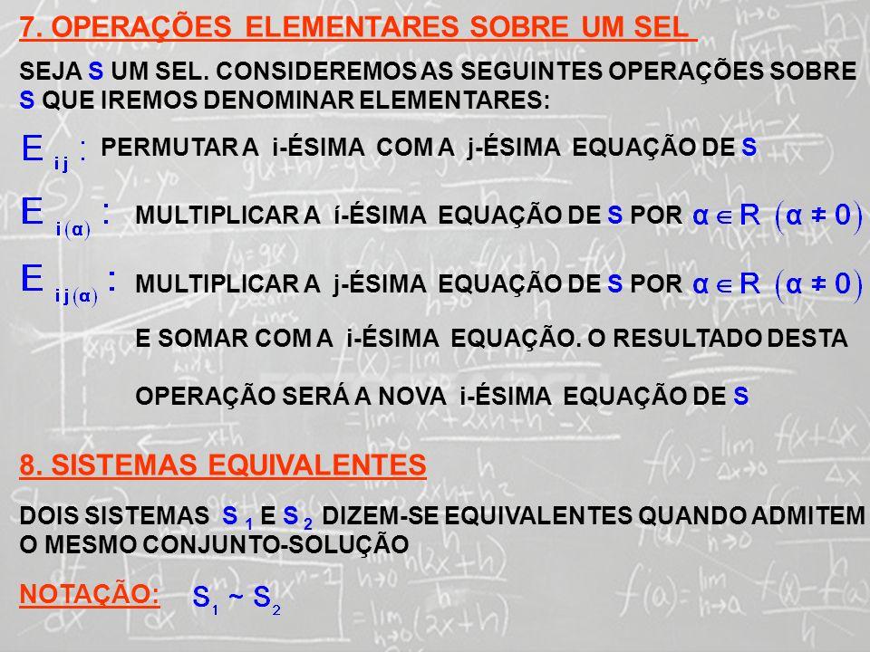 SISTEMAS LINEARES ( 1ª AULA) 9.