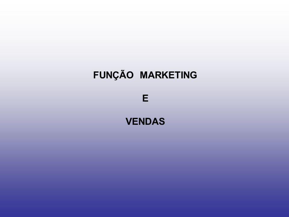 FUNÇÃO MARKETING E VENDAS