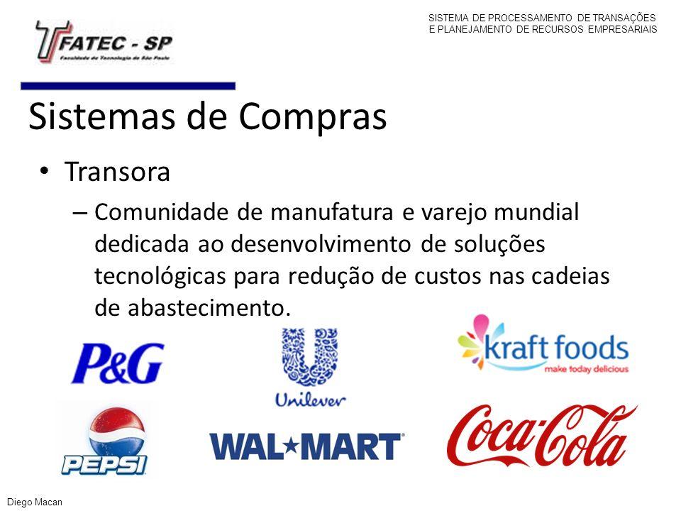 Sistemas de Compras Transora – Comunidade de manufatura e varejo mundial dedicada ao desenvolvimento de soluções tecnológicas para redução de custos n
