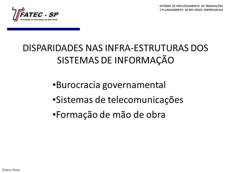 SISTEMA DE PROCESSAMENTO DE TRANSAÇÕES E PLANEJAMENTO DE RECURSOS EMPRESARIAIS DISPARIDADES NAS INFRA-ESTRUTURAS DOS SISTEMAS DE INFORMAÇÃO Burocracia