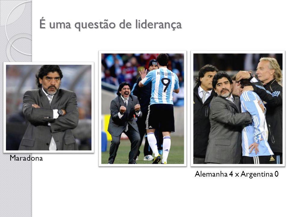 É uma questão de liderança Maradona Alemanha 4 x Argentina 0