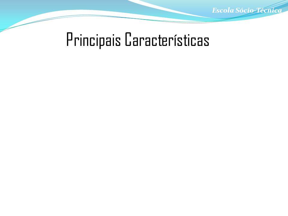 Escola Sócio-Técnica Principais Características