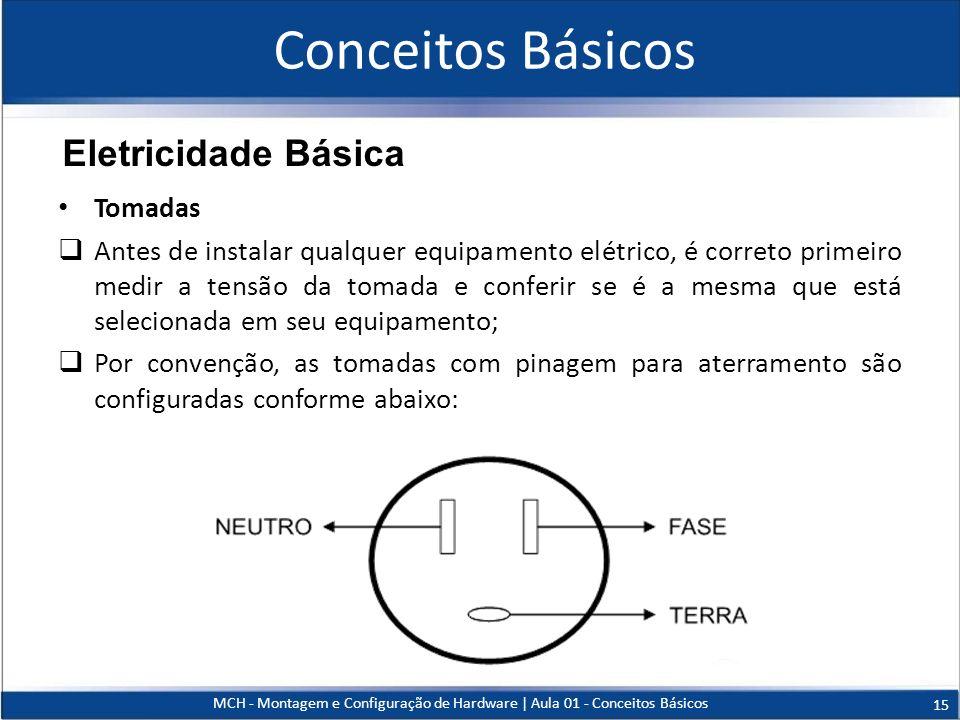 Tomadas Antes de instalar qualquer equipamento elétrico, é correto primeiro medir a tensão da tomada e conferir se é a mesma que está selecionada em s
