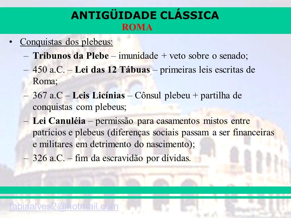 ANTIGÜIDADE CLÁSSICA fabiaalves2@hotmail.com ROMA AS INVASÕES BÁRBARAS (séc IV e V)