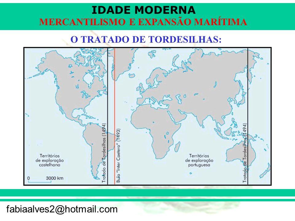 IDADE MODERNA fabiaalves2@hotmail.com MERCANTILISMO E EXPANSÃO MARÍTIMA O TRATADO DE TORDESILHAS: