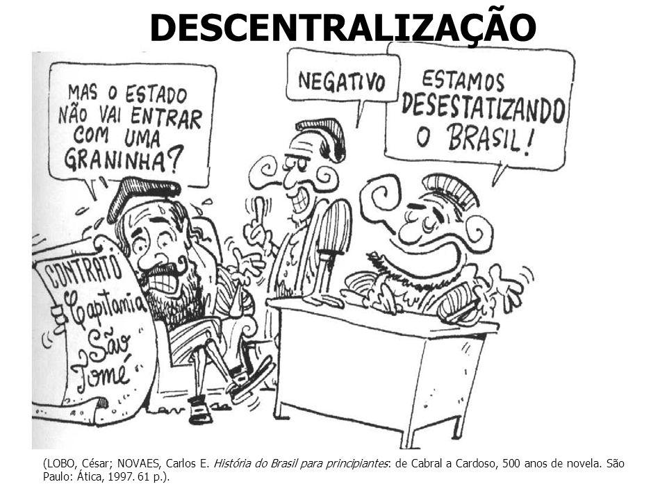 DESCENTRALIZAÇÃO (LOBO, César; NOVAES, Carlos E. História do Brasil para principiantes: de Cabral a Cardoso, 500 anos de novela. São Paulo: Ática, 199