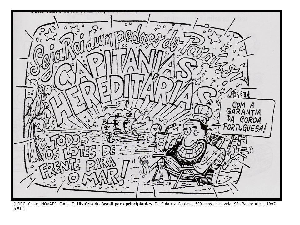 CAPITANIAS HEREDITÁRIAS faixas de terras doadas à pequena nobreza portuguesa donatário concedia sesmarias em forma de posses àqueles que as solicitassem e que poderiam torná-las produtivas doadas e não vendidas terra valia pelo que produzia concentração de terras: proprietários de terras anexavam as sesmarias de colonos mais pobres