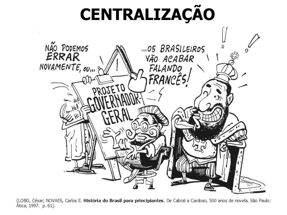 CENTRALIZAÇÃO (LOBO, César; NOVAES, Carlos E. História do Brasil para principiantes. De Cabral a Cardoso, 500 anos de novela. São Paulo: Ática, 1997.