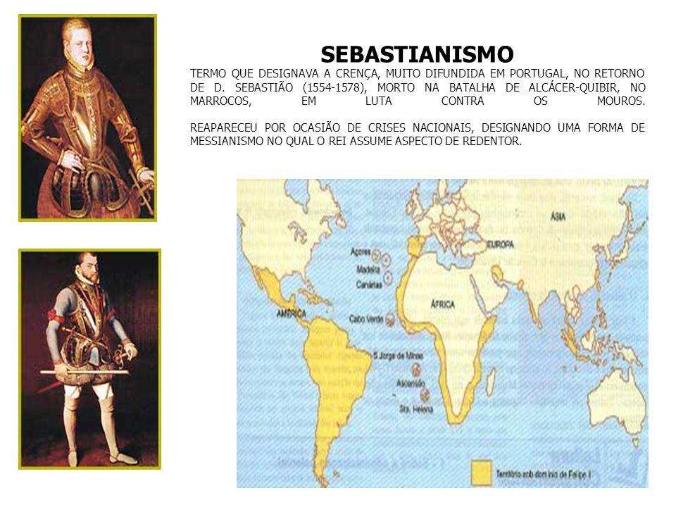 UNIÃO IBÉRICA 1580 - 1640 D.João III, o Colonizador: morte em 1554 D.