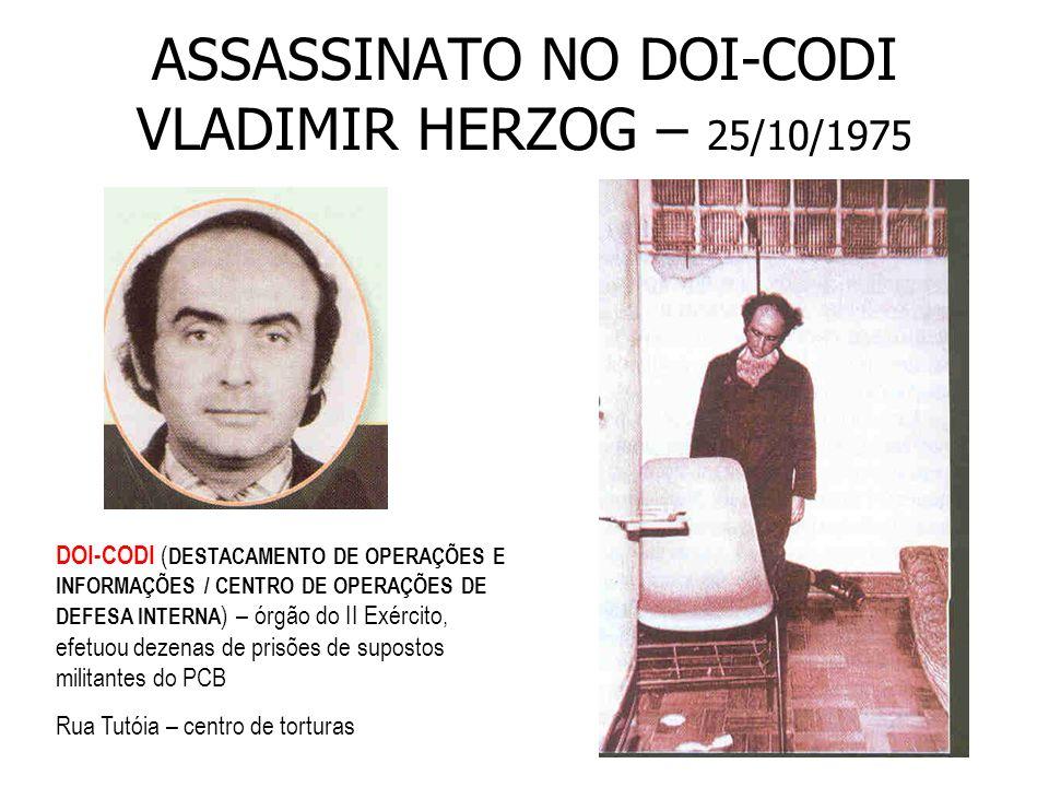 PROJETO DE ABERTURA NO GOVERNO GEISEL – 1974 - 1979 início de 1975: determinou fim da censura à imprensa substituição do comandante do II 0 Exército – general Ednardo D´Ávila Melo - por estar envolvido nas mortes do jornalista WLADIMIR HERZOG (25/10/1975) e do operário MANOEL FIEL FILHO (06/01/1976).