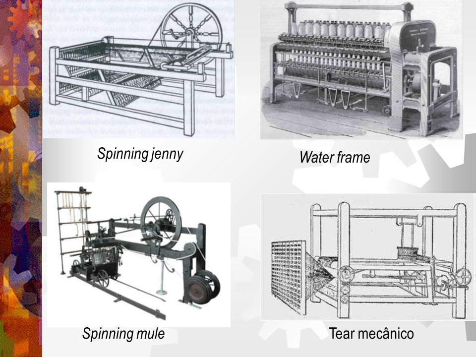 Spinning mule Tear mecânico Spinning jenny Water frame