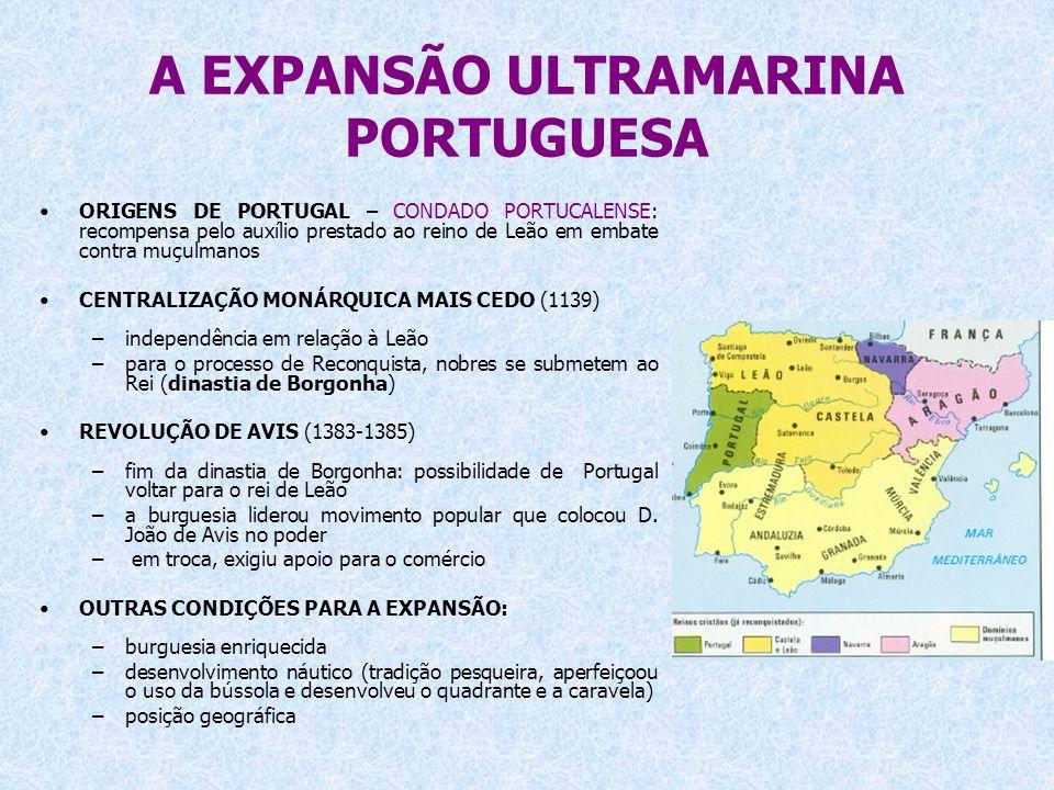A EXPANSÃO ULTRAMARINA PORTUGUESA ORIGENS DE PORTUGAL – CONDADO PORTUCALENSE: recompensa pelo auxílio prestado ao reino de Leão em embate contra muçul