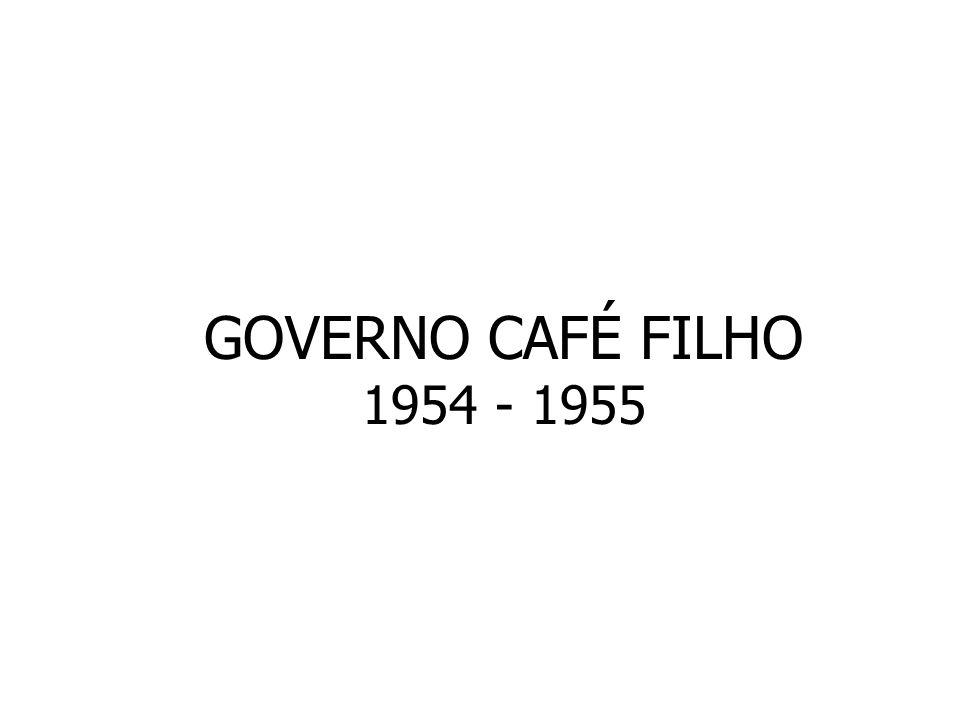 GOVERNO CAFÉ FILHO 1954 - 1955