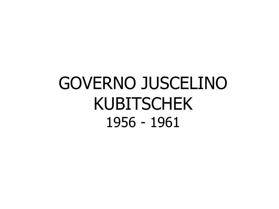 GOVERNO JUSCELINO KUBITSCHEK 1956 - 1961