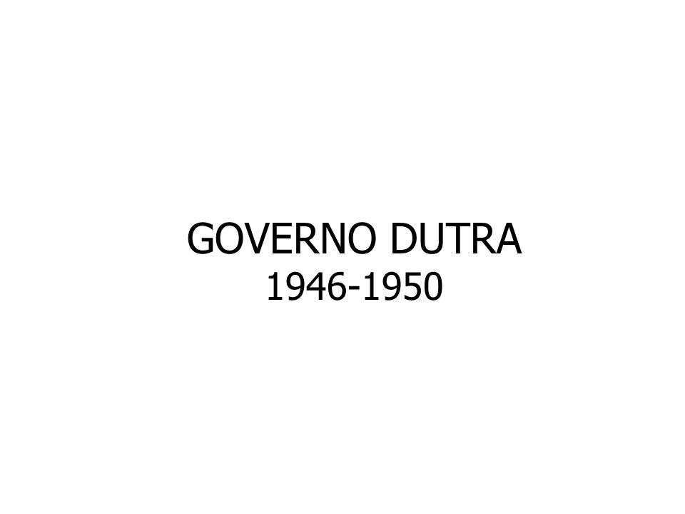GOVERNO DUTRA 1946-1950