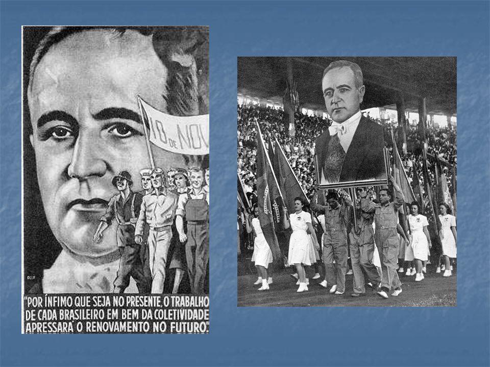 a) A conjuntura política é a do Estado Novo, última fase da Era Vargas.