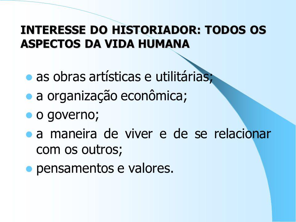 A HISTÓRIA MUDA novas interpretações; novos documentos; novos pesquisadores.