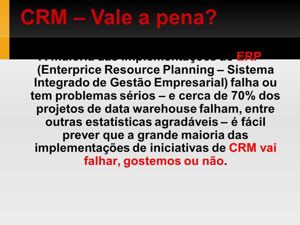 A maioria das implementações de ERP (Enterprice Resource Planning – Sistema Integrado de Gestão Empresarial) falha ou tem problemas sérios – e cerca d