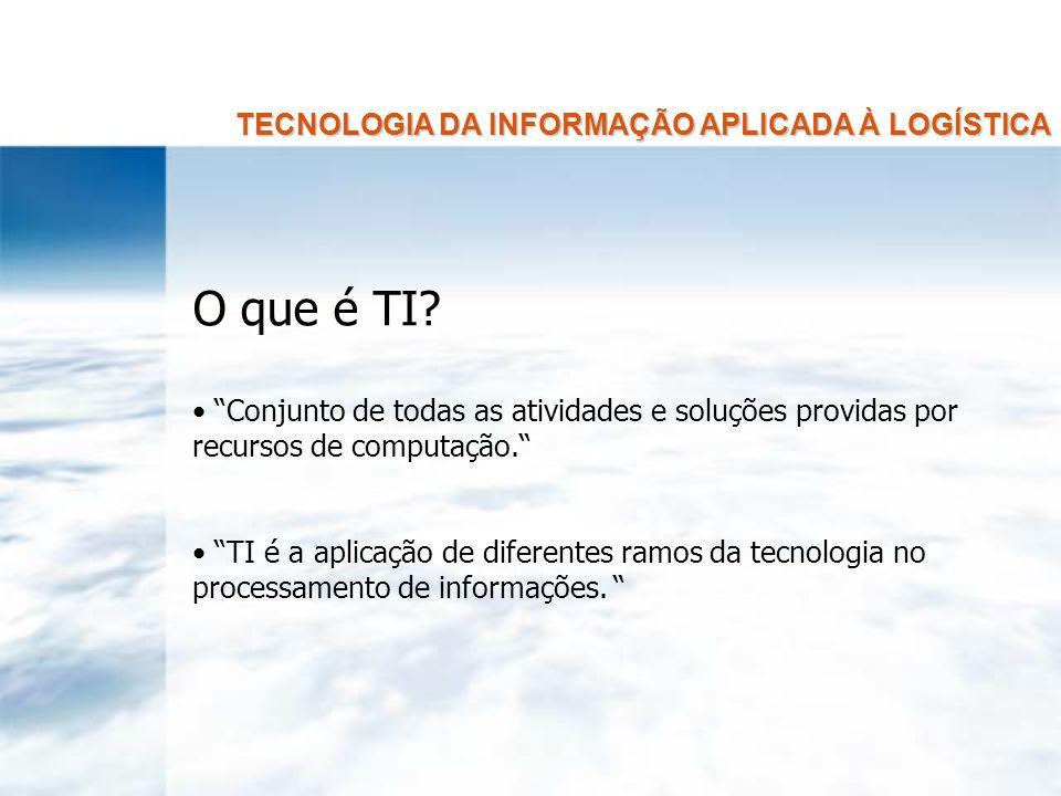 TECNOLOGIA DA INFORMAÇÃO APLICADA À LOGÍSTICA BASES TECNOLÓGICAS 1.1.