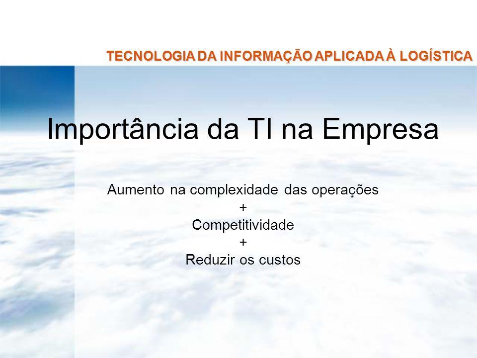 TECNOLOGIA DA INFORMAÇÃO APLICADA À LOGÍSTICA BASES TECNOLÓGICAS 2.1.