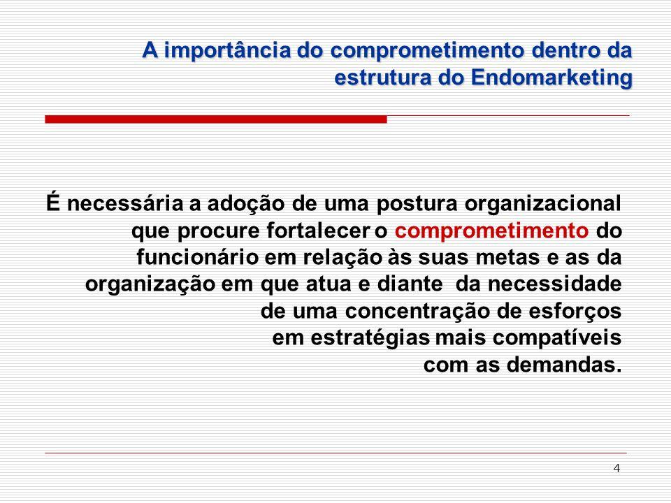 4 É necessária a adoção de uma postura organizacional que procure fortalecer o comprometimento do funcionário em relação às suas metas e as da organiz
