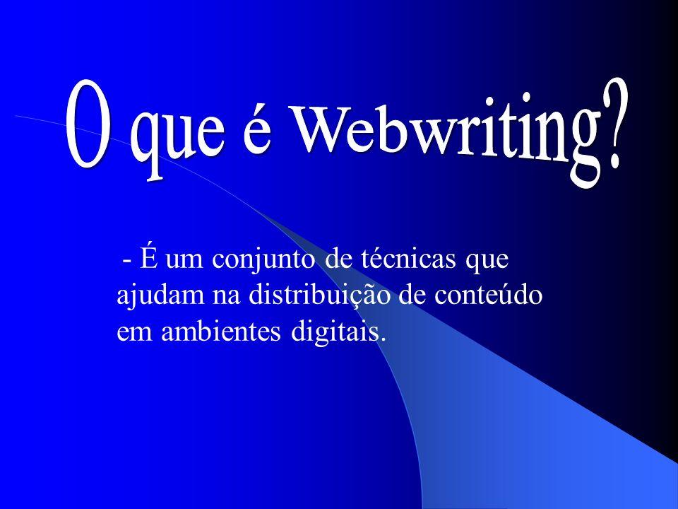 - É um conjunto de técnicas que ajudam na distribuição de conteúdo em ambientes digitais.