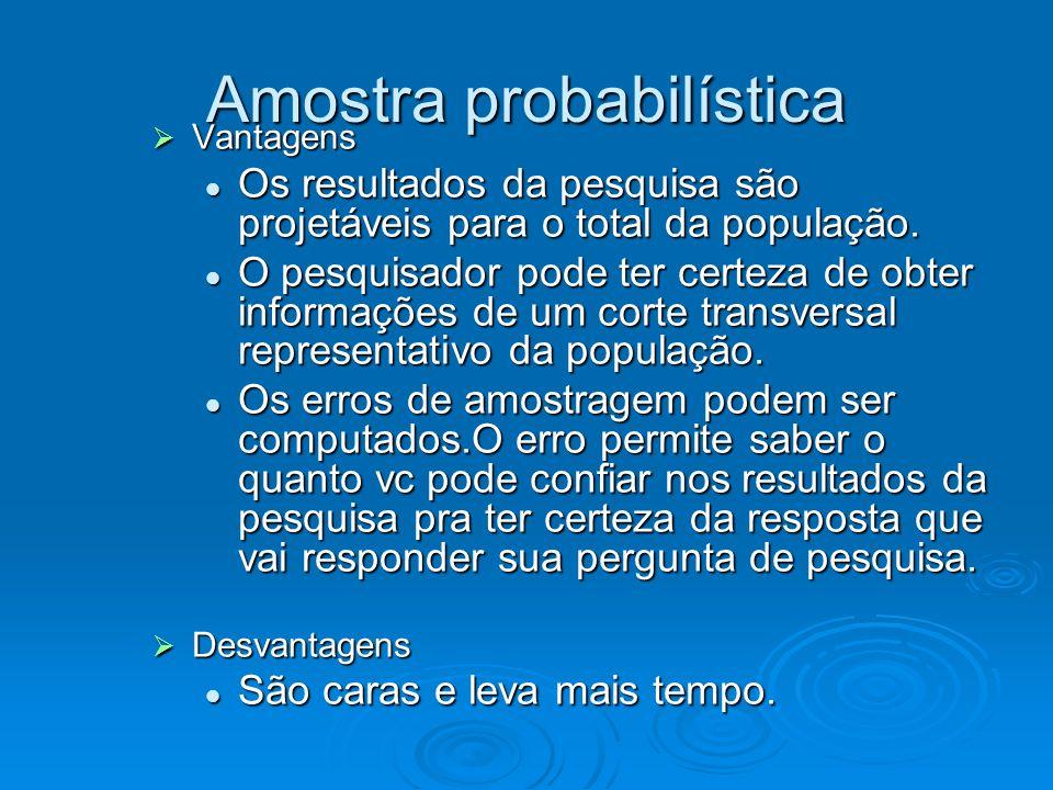 Vantagens Vantagens Os resultados da pesquisa são projetáveis para o total da população. Os resultados da pesquisa são projetáveis para o total da pop