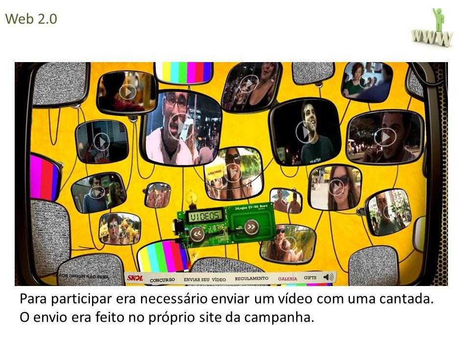 Para participar era necessário enviar um vídeo com uma cantada. O envio era feito no próprio site da campanha. Web 2.0