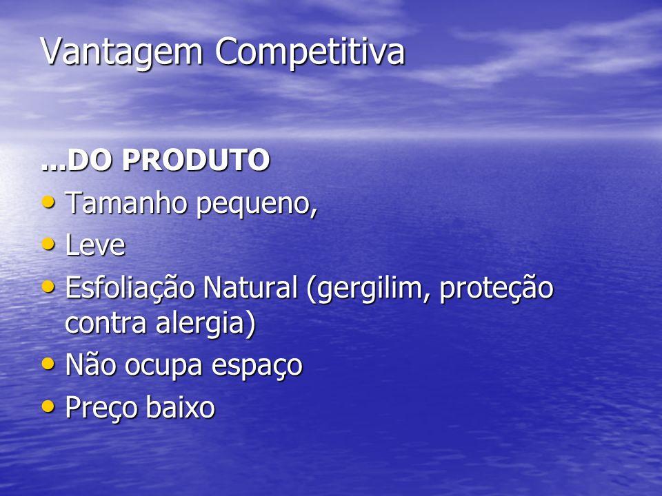 Vantagem Competitiva...DO PRODUTO Tamanho pequeno, Tamanho pequeno, Leve Leve Esfoliação Natural (gergilim, proteção contra alergia) Esfoliação Natura
