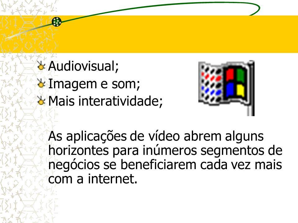 Audiovisual; Imagem e som; Mais interatividade; As aplicações de vídeo abrem alguns horizontes para inúmeros segmentos de negócios se beneficiarem cad
