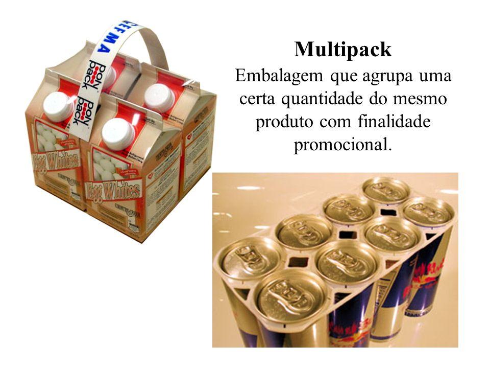 Multipack Embalagem que agrupa uma certa quantidade do mesmo produto com finalidade promocional.