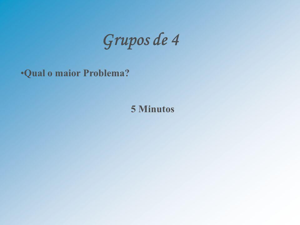 Grupos de 4 Qual o maior Problema? 5 Minutos