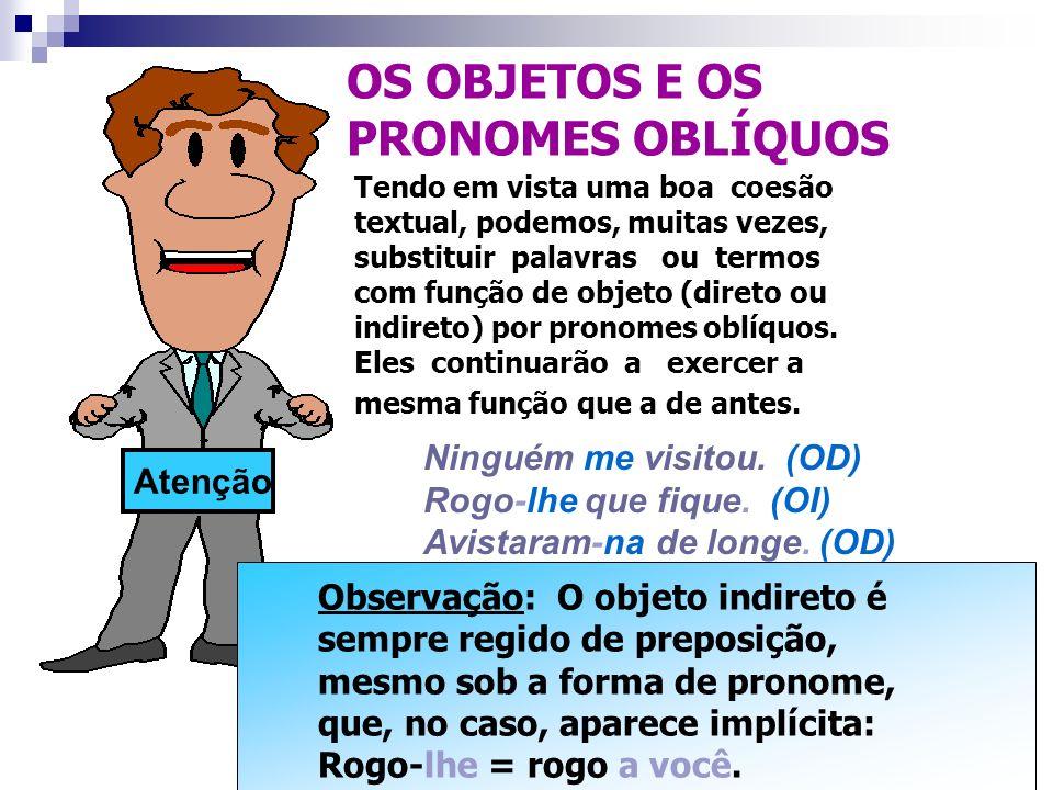 ANALISANDO O CONTEXTO: ANALISANDO O CONTEXTO: O objeto indireto pode ainda acompanhar verbos intransitivos ou verbos de ligação, que, no caso, poderão