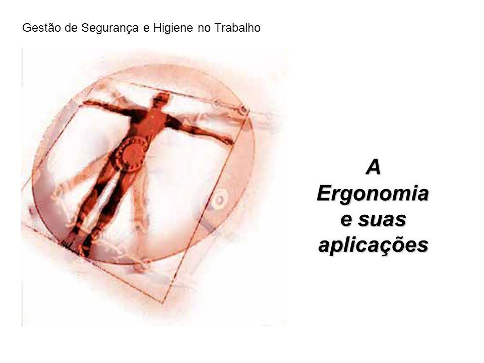 A Ergonomia e suas aplicações Gestão de Segurança e Higiene no Trabalho