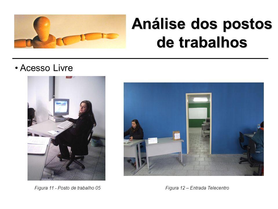 Análise dos postos de trabalhos Telecentro Petrobrás Figura 9 - Telecentro Petrobrás Figura 10 - Telecentro Petrobrás