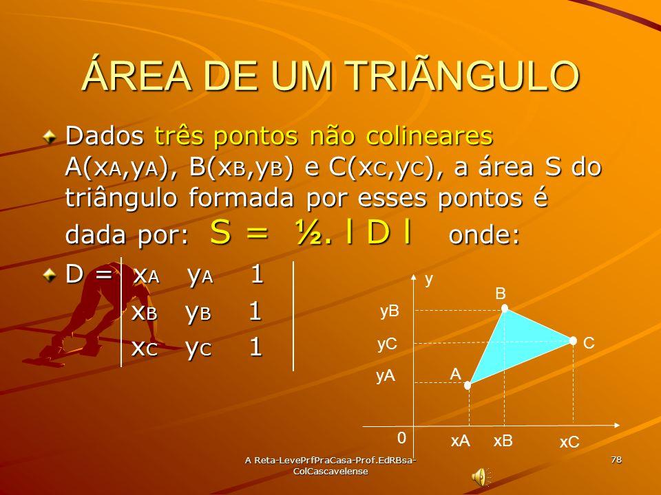 A Reta-LevePrfPraCasa- Prof.EdRBsa-ColCascavelense 77 Ex:48 Calcule k para que a reta 3x + 4y + k = 0 estejam localizada a três unidades de P(5,2). So